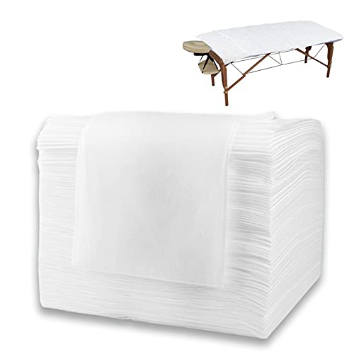 55 Pcs Disposable Massage Table Sheets, 31.5' X 70.9' Disposable Bed Sheet Set, Waterproof Non-Woven Fabric + PE Film Large Spa Bed Cover
