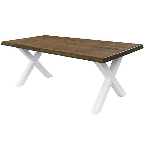 COMIFORT Mesa de Comedor - Mueble para Salon Oficina Despacho Robusto y Moderno de Roble Macizo...