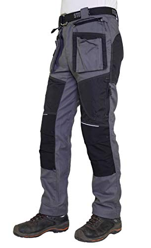 STØRVIK Cordura Canvas Werkbroek Heren Antraciet Grijs - XS-3XL - MARC