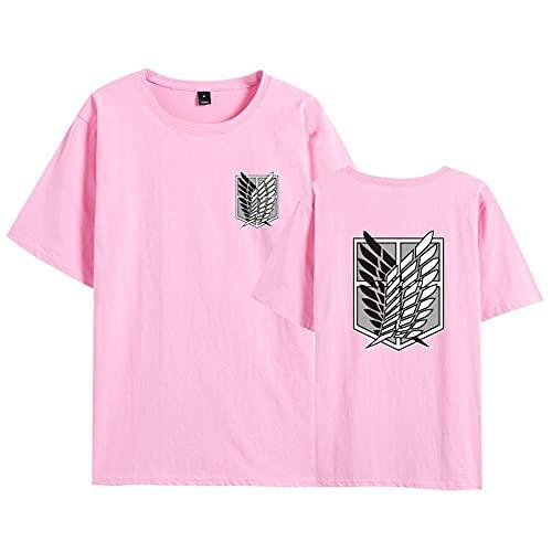 Camiseta Attack On Titan, Camiseta Anime 3D Shingeki No Kyojin Scout Regiment Levi·Ackerman Anime Cosplay T-Shirt Casual Manga Corta Ropa Camisa Sudadera Tops para Hombre Mujere Niño-A_XL