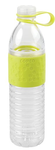 Copco Hydra Reusable Tritan Water Bottle with Spill Resistant Lid and Non-Slip Sleeve, 20-Ounce, Light Green