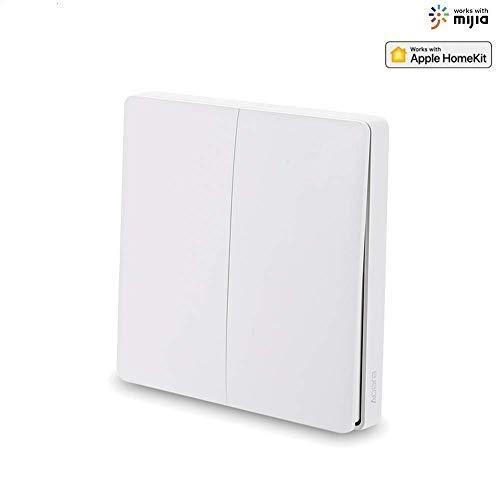 Bainuojai - Interruptor de Pared Aqara WiFi, Interruptor Zigbee Smart Light, Temporizador de Pared Smart Home Switch Compatible con Mijia y Apple Homekit Double Bond