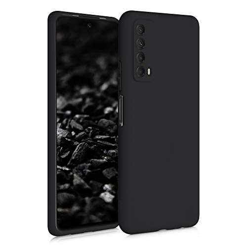 kwmobile Hülle kompatibel mit Huawei P Smart (2021) - Hülle Silikon - Soft Handyhülle - Handy Hülle in Schwarz