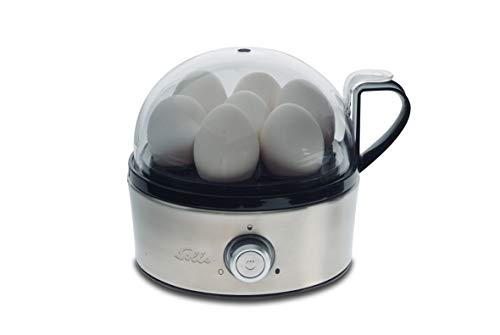 Solis Eierkocher für 7 Eier, Mit Härtegradeinstellung, Kochen und Dämpfen, Eiereinsatz und 2 Schalen, Egg Boiler & more, Edelstahl