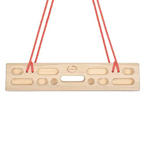Rockwork Hangboard/Fingerboard Portable Grip Strength Trainer for Indoor and Outdoor Practice, Premium Wooden Rock Climbing Hang Board for Climbers, Hang Anywhere