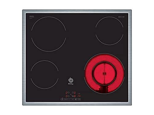 Balay 3EB721XR - Placa Vitrocerámica, 4 Fuegos, Función Silencio, 60cm