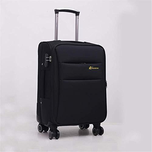 LLKK Dfghbn Maleta de viaje Oxford Bolsa de freno de negocios Maleta de herramientas Caster Trolley Case Chasis Trolley Maleta de 50 a 61 cm (Color: Negro, Tamaño: 28 pulgadas)