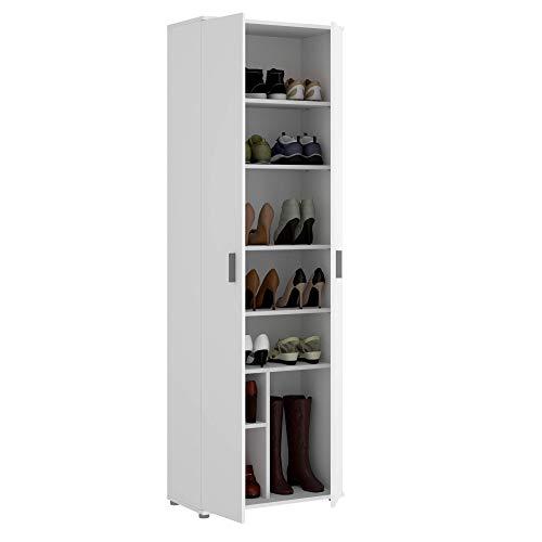 HOMEKIT Armario Multiusos 6 estantes, Blanco, 61x190x35cm