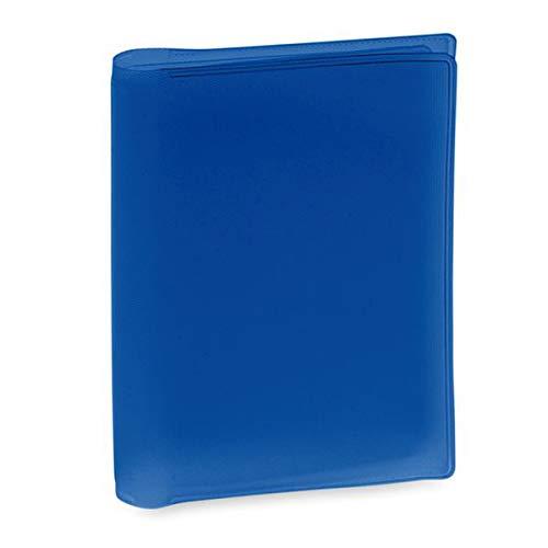 BigBuy Accessories 144226, Tarjetero Unisex-Adult, Azul, 7.5 x 10.3 x 0.4 cm