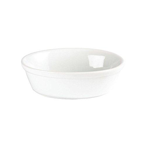 Bol à tarte ovale Olympia blanc – 52 (H) x 161 (l) x 116 (P) mm. Quantité : 6.