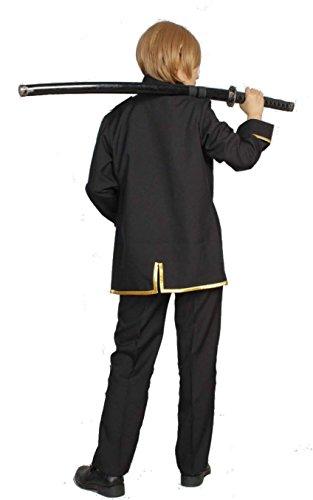 『銀魂 真選組 隊服 金縁 コスプレ 衣装 Mサイズ スカーフ アイマスク 付き 5点セット』の5枚目の画像