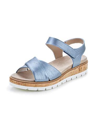 Avena Damen Sandale Polstertraum Blau Gr. 37
