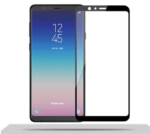 Jump Start Samsung A8 Star Tempered Glass 3D Fiber Screen Saver Protector Full Coverage (Black) for Samsung Galaxy A8 Star Launch