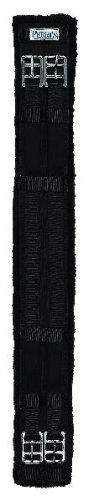 Perri's Cotton/Fleece Dressage Girth, Black, 28-Inch