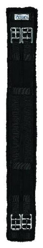 Perri's Cotton/Fleece Dressage Girth, Black, 24-Inch