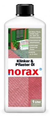 norax Klinker & Pflaster Öl 1 l - Wirkt farbvertiefend, farbauffrischend, schützt Klinker & Pflaster gegen Schmutz und Flecken