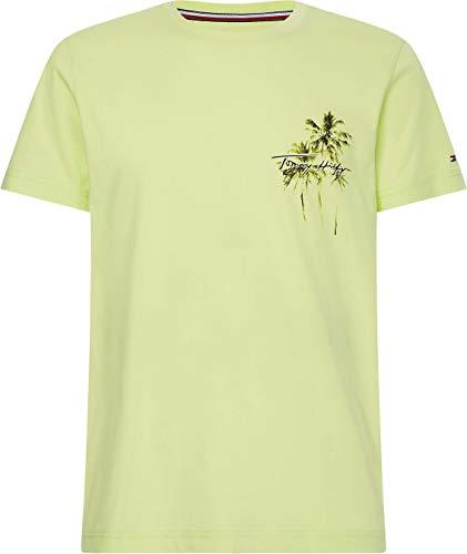 Tommy Hilfiger Palm Box Print tee Camiseta, Flash de Lumen, M para Hombre