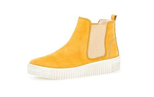 Gabor Damen Stiefeletten, Frauen Chelsea Boots,Best Fitting,Optifit- Wechselfußbett, Ladies feminin elegant Women's Women Woman,Mango,38 EU / 5 UK