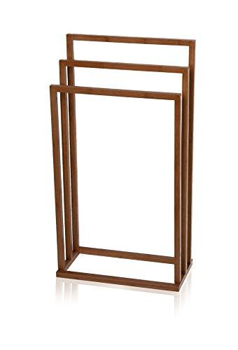 möve Bamboo Square Handtuchhalter 45 x 17,5 x 84 cm aus Bambus, wood