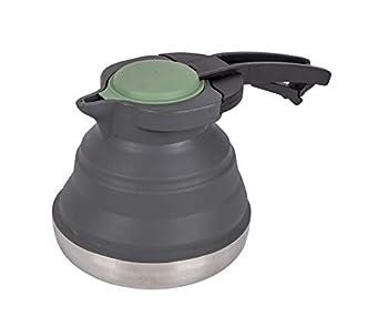 Bo-Camp - Bouilloire - Pliable - 1,2 litre - Silicone/Inox - Gris