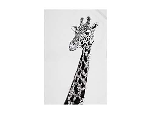 Maxwell & Williams Marini Ferlazzo Geschirrtuch Afrikanische Giraffe, 100% indische Baumwolle, weiß, 50 x 70 cm