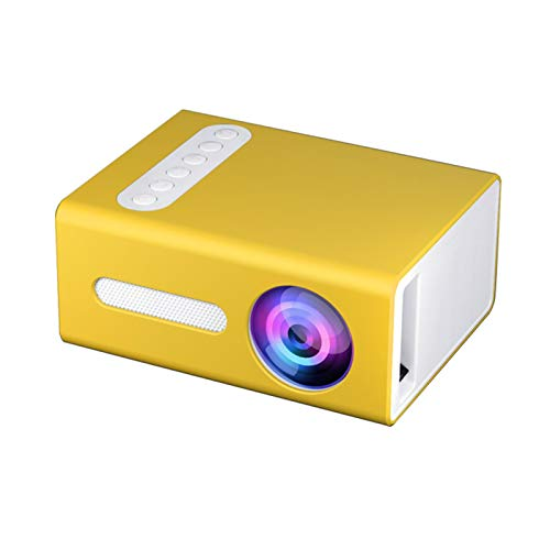 GEZICHTA Portable Projector, LED Mini Projector Built-in Speakers, 4 : 3 Image Scale for TV Box, Laptop, Computer, Dgital Camera, Best Gift for Children