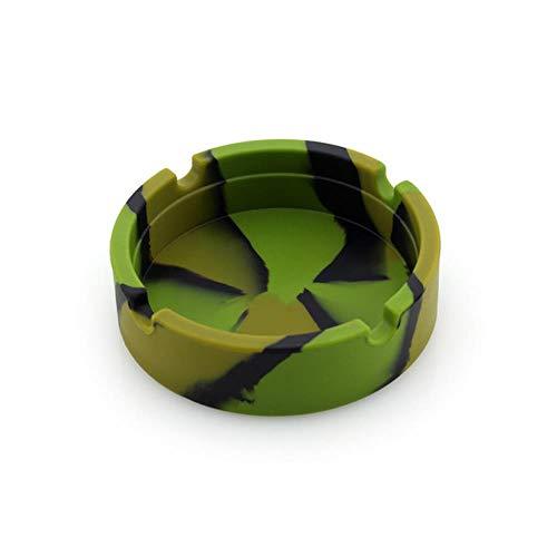 Zxcvbnm 1X Draagbare Camouflage Zachte Siliconen Rubberen Asbak Plumineuze Lade Beugel Anti-kokende Sigarettenhouder gereedschap