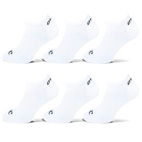 O'Neill | Unisex | Sneaker Socken | 6er Set | Sportsocken Freizeitsocken Sneakersocken für Damen und Herren (Weiß, 39-42)
