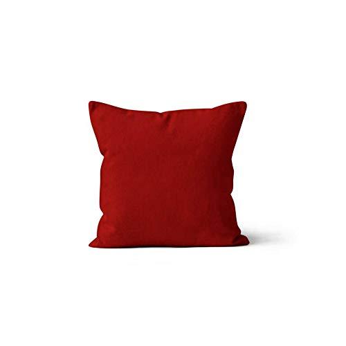Soleil docre Cojín desenfundable 40x40 cm Alix Rojo