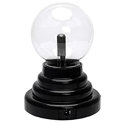 MZJY Luz de Bola mágica de Plasma, Bola de Cristal Sensible al Tacto, USB o con Pilas, Adecuada para Fiestas, Decoraciones, niños, dormitorios, hogares