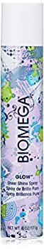 BIOMEGA Glow Sheer Shine Spray 6 Oz A Micro-Light Finishing Shine Spray with UV Protection Delivers Instant Healthy-Looking Shine Ultra-Rich Nutrients Nourish Hair