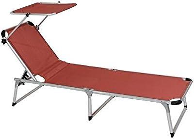 TecTake 800089 Tumbona de Jardín con Parasol y 2 Cojines | 2 ...