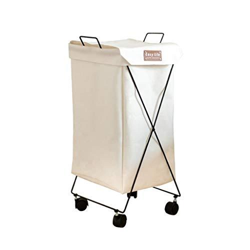 WZHZJ Ruedas de lavandería Cesto, lavandería Clasificador de Ropa Sucia Organizador Impermeable Plegable Cesta de lavadero de lavandería Bolsa