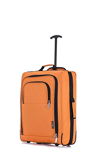 FLYMAX 56X45X25 Cabin Luggage Hand Carry on Flight Bag Lightweight Suitcase 1.58Kg Approved for Easyjet Jet 2 British Airways Trolley