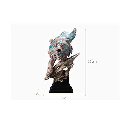 Escultura Arte Oso Cabeza Adornos Hogar Vino Gabinete Televisión Gabinete Oficina Hogar Adornospintura Al Óleo Oso Cabeza Estatuas