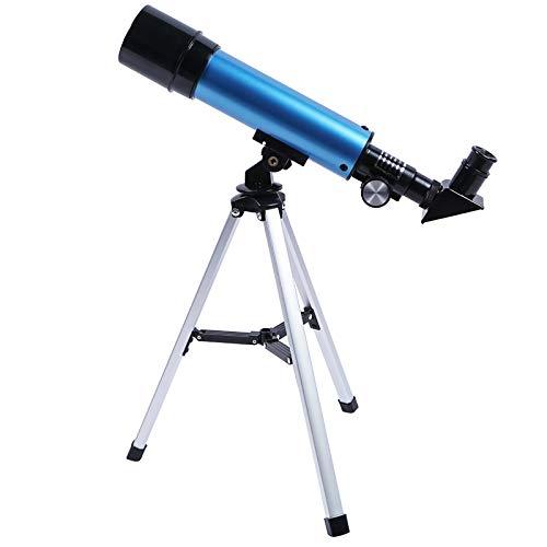 Xinwoer Tamaño Compacto Telescopio Refractor fácil de operar Material Firme Telescopio Ligero para niños Adecuado para niños Telescopio Principiante