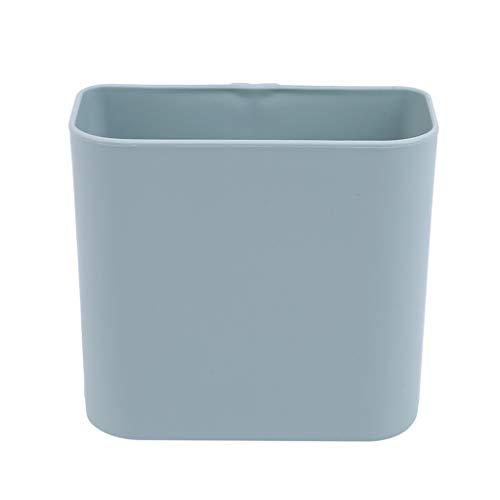 GOMYIE Nahtlose Lagerregal Bad Regal Federkorb Ablagekorb Kunststoffartikel Wandhalter Küche Halter (blau)