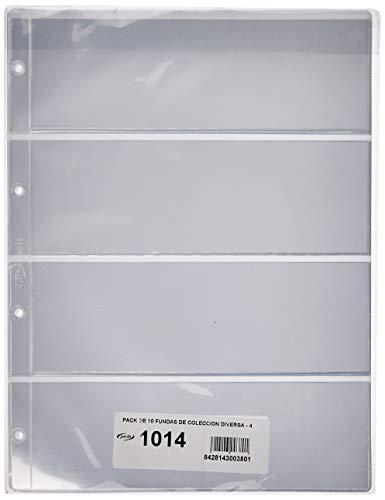 Pardo 101400 - Pack de 10 fundas para colección variada, 4 alojamientos