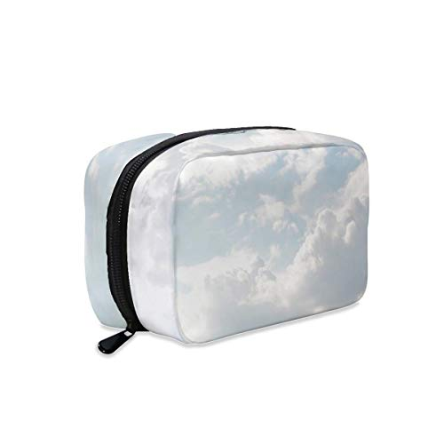 Light Sky Sunny Clouds Cloudy Makeup Bag Zipper Pouch Travel Toiletry Bag Cosmetic Accessories Organizer Purse Large Portable for Women Girls