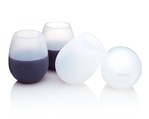 Unbreakable Silicone Wine Glasses - 14 Ounce Stemless...