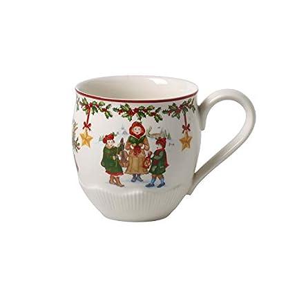 Villeroy & Boch Toy's Fantasy Taza extragrande, navideña grande de Premium Porcelain para niños, roja/varios colores, 530 ml