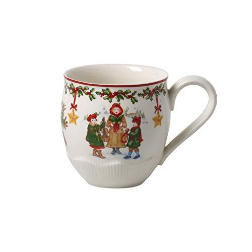 Villeroy & Boch Toy's Fantasy Jumbobecher, große Weihnachtstasse aus Premium Porzellan für Kinder, rot/bunt, 530 ml