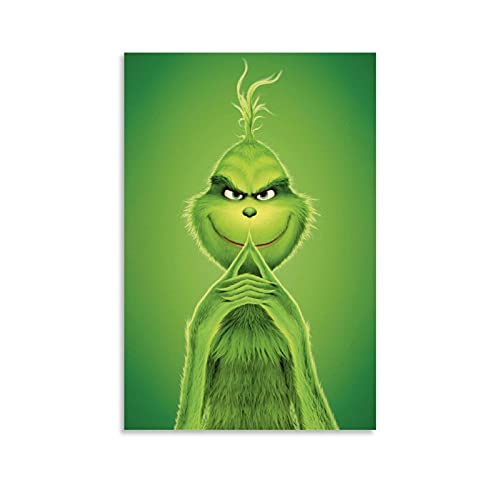 The Grinch Thoughts on How to Steal Christmas Home - Lienzo decorativo para pared (40 x 60 cm)
