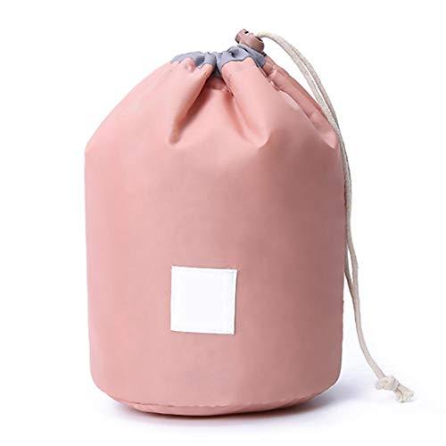 Barrel Toilette Borsa Viaggi Sacchetti Cosmetici Impermeabile Con Coulisse Sacchetto Di Trucco Casi Pieghevoli Portatili Per Le Donne Ragazze (rosa)