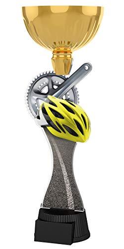 Trophy Monster Gold - Piastra per casco da ciclismo con incisione 'Trofei', per club e campionati, adulti o bambini, realizzata in acrilico stampato (3 dimensioni) (285 mm)