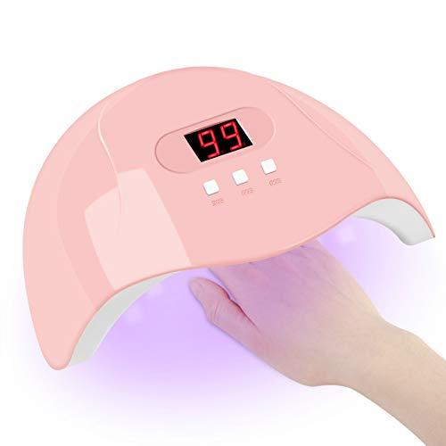 LsdnlxSecadores de uñas, máquina secadora de uñas rosa, lámpara de uñas LED UV, cable micro USB portátil, herramientas de decoración de uñas para uso doméstico
