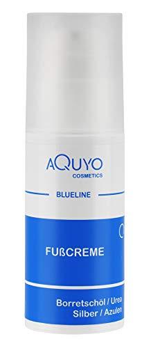 Blueline Fußcreme gegen Hornhaut und Fußpilz | Creme für trockene, rissige Füße und Entzündungen der Haut | Fusscreme mit 15% Urea | Fusspflege zur Behandlung von Schrunden (100ml Airless Spender)