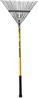 Stanley TANLEY FATMAX Springback Leaf Rake - Fibreglass Long Handle 32mm Diameter Yellow/Black