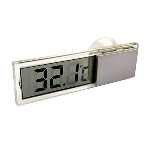 Guangcailun Las temperaturas del termómetro Celsius Fahrenheit LCD Digital medidor Ventosa para el Cuidado de la Salud de Interior de Coches al Aire Libre