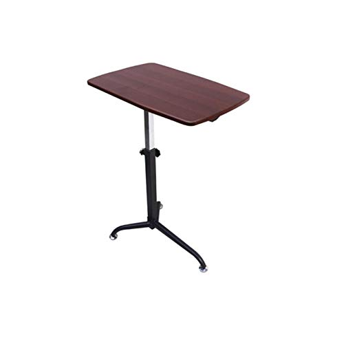 Sofa bed table Folding Laptop Table Bed Desk Black With Adjustable Height And Tilt Angle Portable Gaming Computer Desk Tablet Stand 62x40x (61-91.5) Cm - Cherry Wood Color Computer Standing Desk